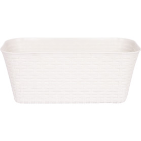 Ящик балконный Idea Ротанг 40x18x16 см v11 л пластик белый