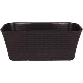 Ящик балконный Idea Ротанг 40x18x16 см v11 л пластик коричневый