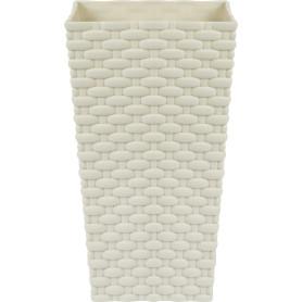 Горшок цветочный «Ротанг» D14, 3, 2л., пластик, Белый