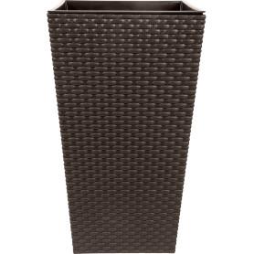 Горшок цветочный «Ротанг» D26, 7, 6л., пластик, Коричневый