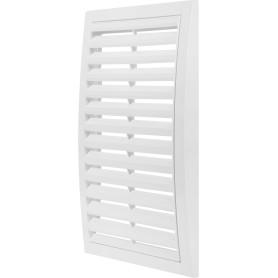 Решетка вентиляционная вытяжная АБС 2030РР, 200х300 мм, цвет белый
