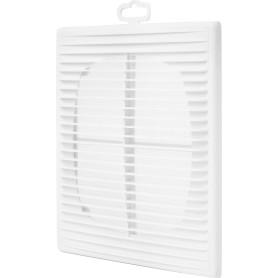 Решетка вентиляционная приточно-вытяжная АБС 2121П, 208х208 мм, цвет белый