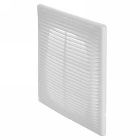 Решетка вентиляционная приточно-вытяжная АБС 1825П, 183х253 мм, цвет белый