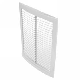 Решетка вентиляционная вытяжная АБС 1825РЦ, 180х250 мм, цвет белый