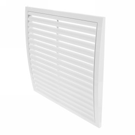 Решетка вентиляционная вытяжная АБС, 350х350 мм, цвет белый