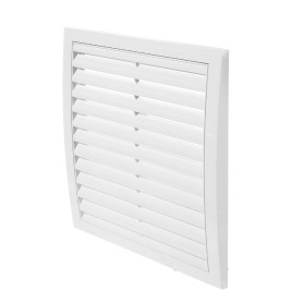 Решетка вентиляционная вытяжная АБС, 250х250 мм, цвет белый
