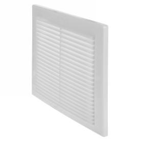 Решетка вентиляционная вытяжная АБС, 249х249 мм, цвет белый