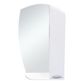 Шкаф зеркальный «Глория» 55 см цвет белый