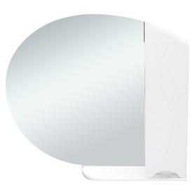Шкаф зеркальный «Глория» 90 см цвет белый