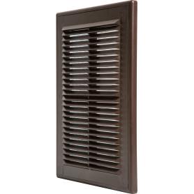 Решетка вентиляционная Вентс МВ 125 с, 182x251 мм, цвет коричневый
