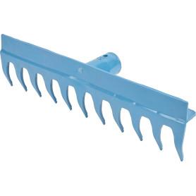 Грабли прямые 11 зубьев 43 см, пластик без черенка