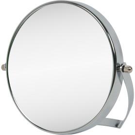 Зеркало косметическое настольное увеличительное 15 см цвет хром