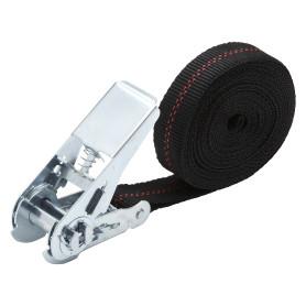 Ремень-карабин 25 мм 5 м, полипропилен, цвет чёрный