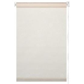 Штора рулонная «Арабеска» 50х160 см, цвет молочный