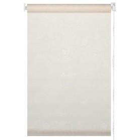 Штора рулонная «Арабеска» 80х160 см, цвет молочный