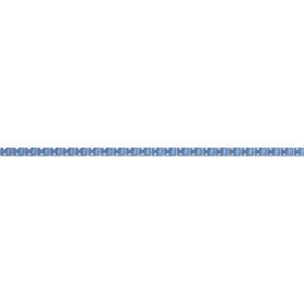 Бордюр «Капсула люстрированная» 7х250 мм цвет синий