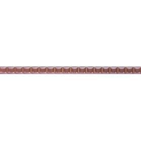 Бордюр «Разрезной люстрированный» 13х250 мм цвет розовый