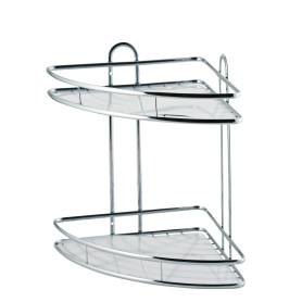 Полка для ванной комнаты Swensa двухъярусная угловая металл