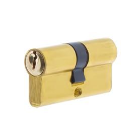 Цилиндр ключ/ключ 30х30 золото, E AL 60 PB