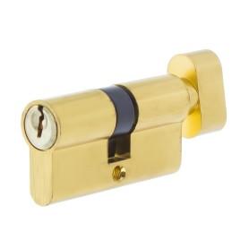 Цилиндр ключ/вертушка 30х30 золото,Е 60 PB T01