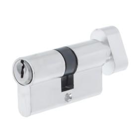 Цилиндр ключ/вертушка 30х30 хром,Е 60 CP T01