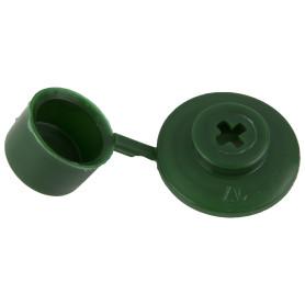 Шайба кровельная с колпачком зеленая, 100 шт.