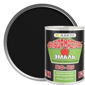 Эмаль ПФ-115 Выбор Мастера цвет чёрный0.9 кг