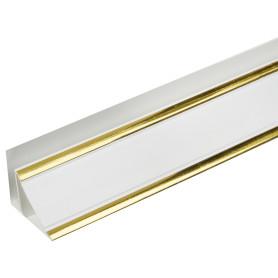Плинтус ПВХ потолочный Софитто золото 3000 мм