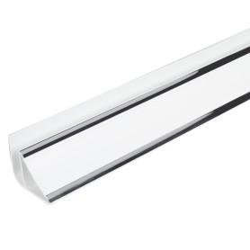 Плинтус ПВХ потолочный Софитто серебро 3000 мм