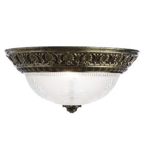 Светильник настенно-потолочный Piatti 2xE27x40 Вт, цвет бронза