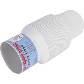 Отвод для трубы гибкий 80 мм цвет белый