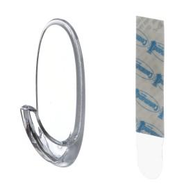 Дизайн-крючок Command средний, пластик, цвет прозрачный, 2 шт.