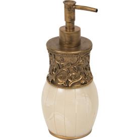 Дозатор для жидкого мыла настольный «Флоренция» полирезина цвет бежевый