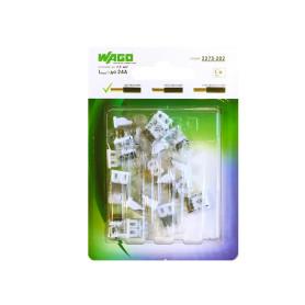 Клемма соединительная Wago 2273-202, 2 разъёма под провода, 10х5.8х16.7 мм, поликарбонат, 20 шт.