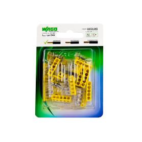 Клемма соединительная Wago, 5 разъёмов под провода с пастой, 22х5.8х16.7 мм, поликарбонат, 20 шт.