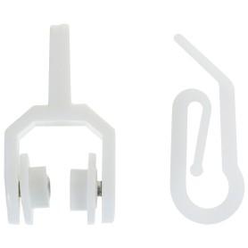 Бегунки-ролики с крючком для гибкого карниза цвет белый, 20 шт.