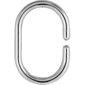 Кольца для шторок Sensea пластиковые, цвет хром, 12 шт