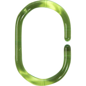 Кольца для шторок Sensea пластиковые, цвет зеленый, 12 шт