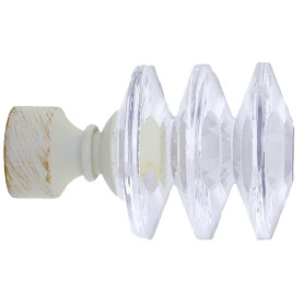Наконечник «Кубок» 7 см стекло цвет белый антик