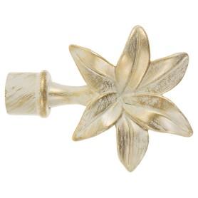 Наконечник «Лилия» 10 см цвет белый антик