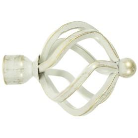 Наконечник «Глобус» 9.5 см цвет белый антик