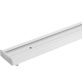 Карниз шинный двухрядный с потолочным держателем 200 см алюминий цвет белый