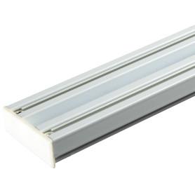 Карниз шинный двухрядный с потолочным держателем 240 см алюминий цвет белый