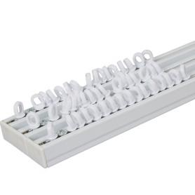 Карниз шинный трехрядный с потолочным держателем 160 см алюминий цвет белый