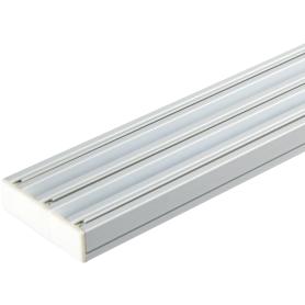 Карниз шинный трехрядный с потолочным держателем 200 см,алюминий цвет белый