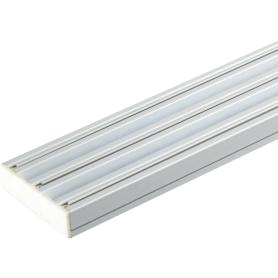 Карниз шинный трехрядный с потолочным держателем 240 см алюминий цвет белый