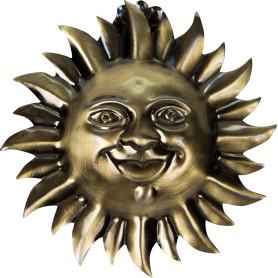 Клипса «Солнце», цвет золото антик