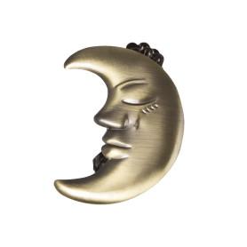 Клипса «Месяц», цвет золото антик