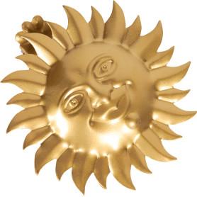 Клипса «Солнце» металл цвет матовое золото
