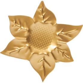 Клипса «Цветок» металл цвет матовое золото